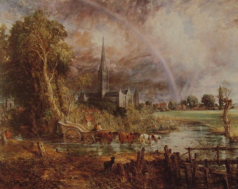 Salisbury Cathedral from the Meadows. John Constable