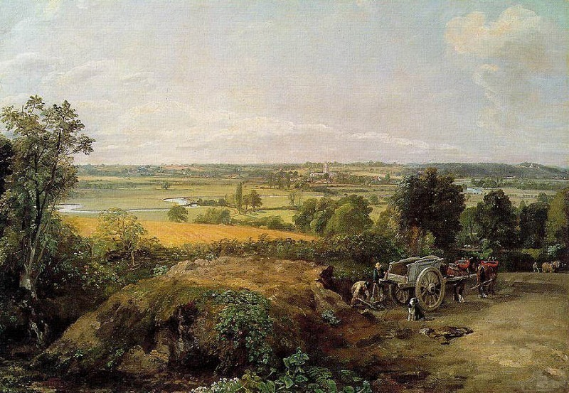Stor Valley and Dedham Church. John Constable