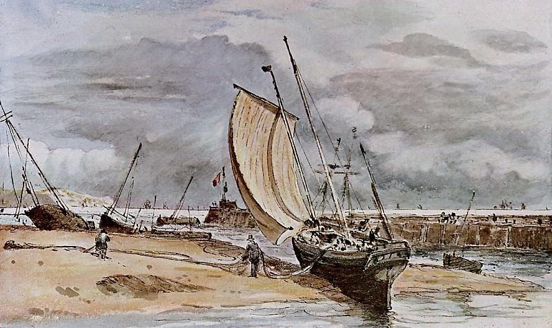 Fokstone harbour. John Constable