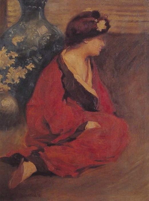 Seated Woman in Red. Уильям Чедвик