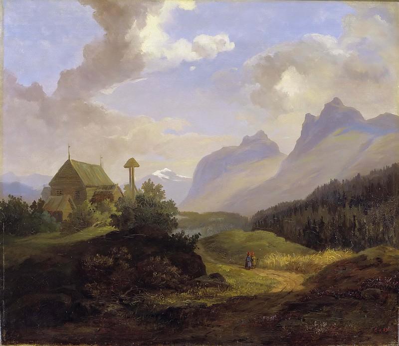 Scenery from Kvikkjokk. Charles XV of Sweden