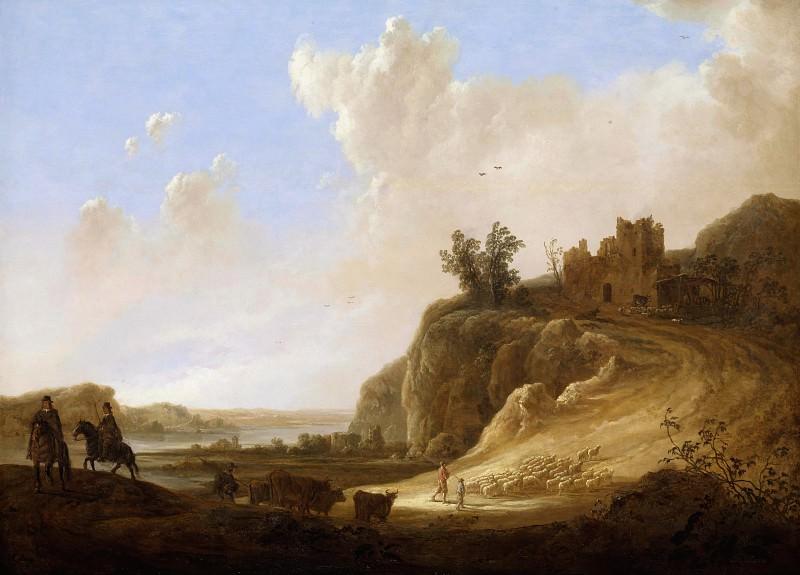 Холмистый пейзаж с руинами замка. Aelbert Cuyp
