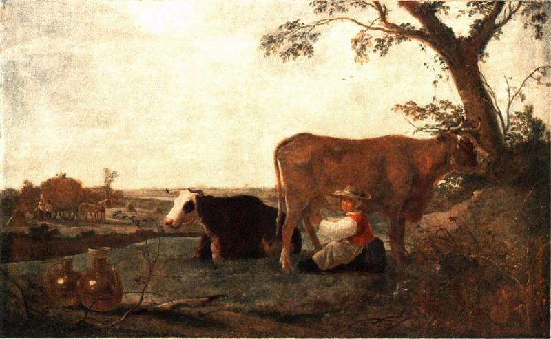 CUYP Aelbert The Dairy Maid. Aelbert Cuyp