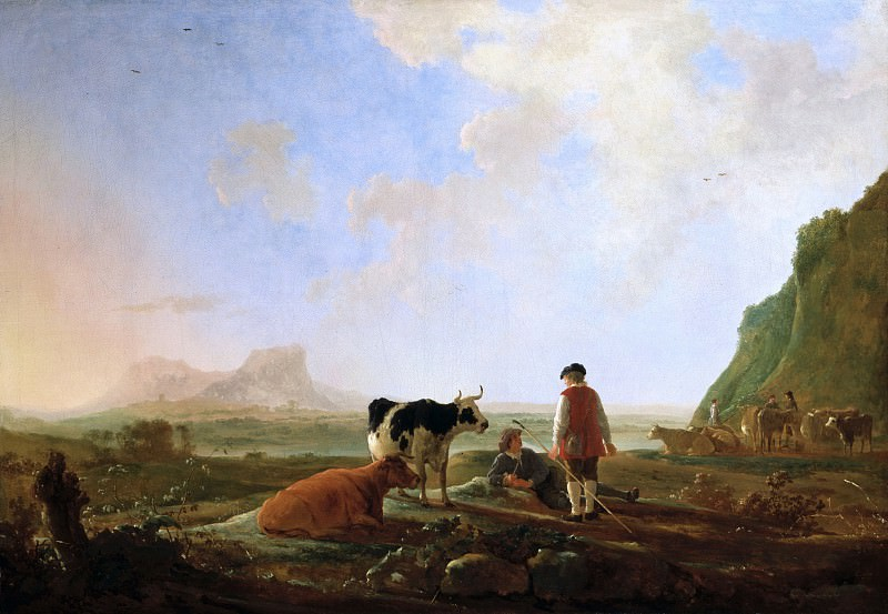 Herdsmen With Cows. Aelbert Cuyp