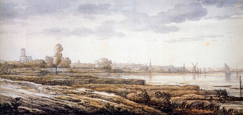 Cuyp Albert View on Dordrecht Sun. Aelbert Cuyp