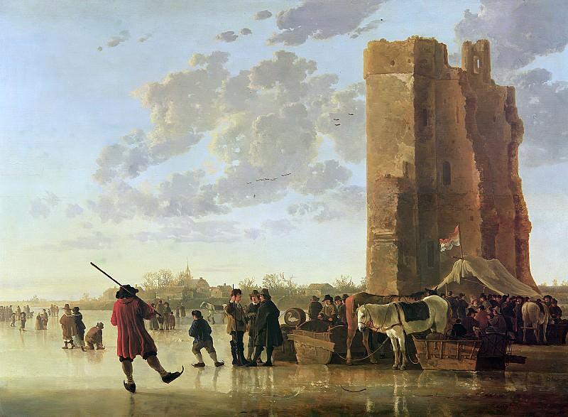 Вид на Маас зимой. Альберт Кёйп
