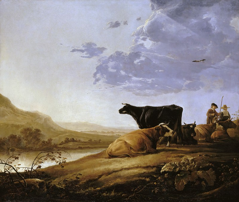 Young Herdsman With Cows. Aelbert Cuyp