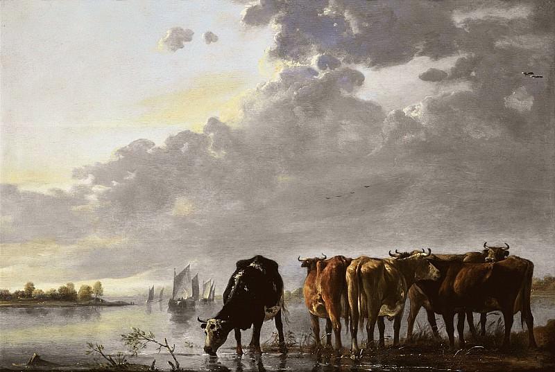 Стадо на реке (приписывается). Альберт Кёйп