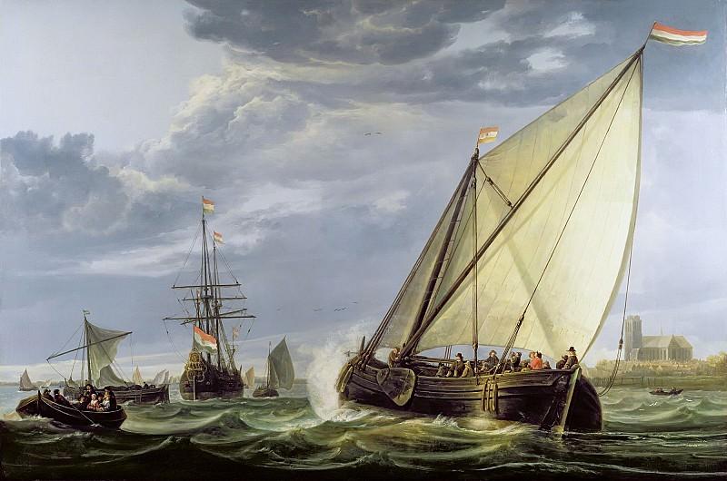 Корабли на Маасе. Aelbert Cuyp