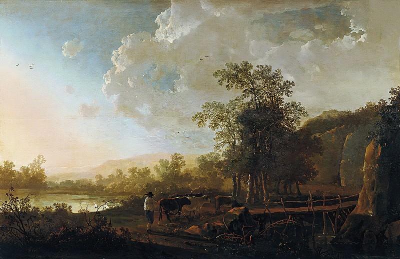 Пейзаж с пастухом и стадом. Альберт Кёйп