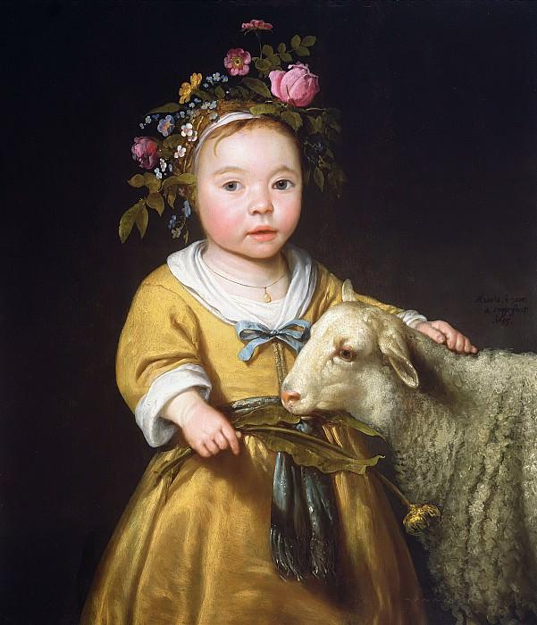 Девочка с овцой. Aelbert Cuyp