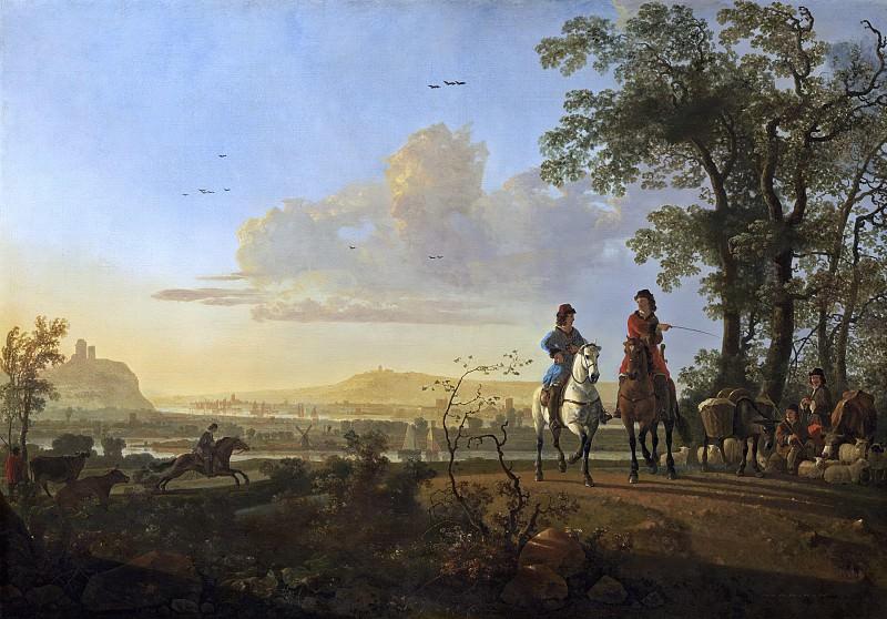 Всадники и пастухи со стадом. Aelbert Cuyp