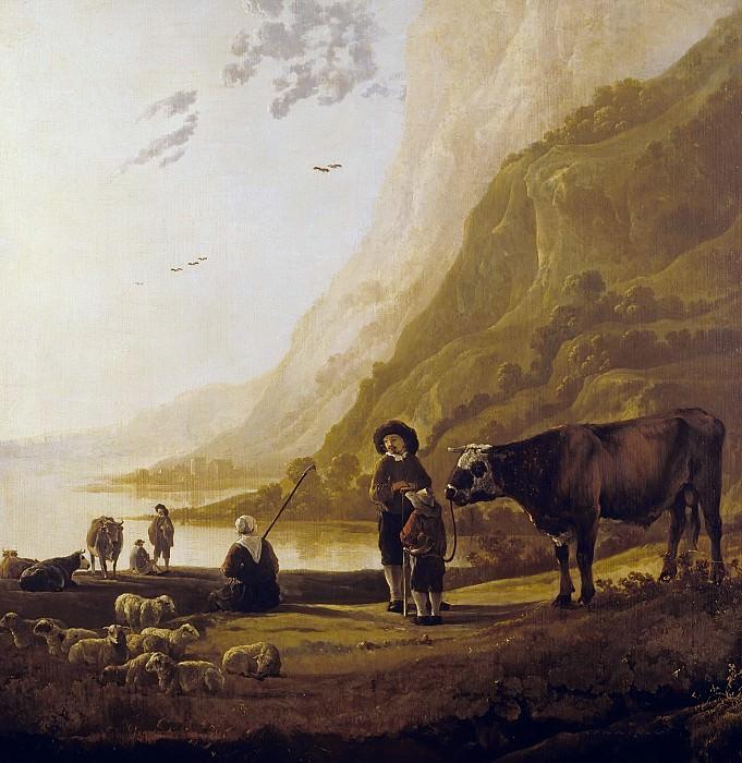 Пейзаж с пастухом и быком. Aelbert Cuyp