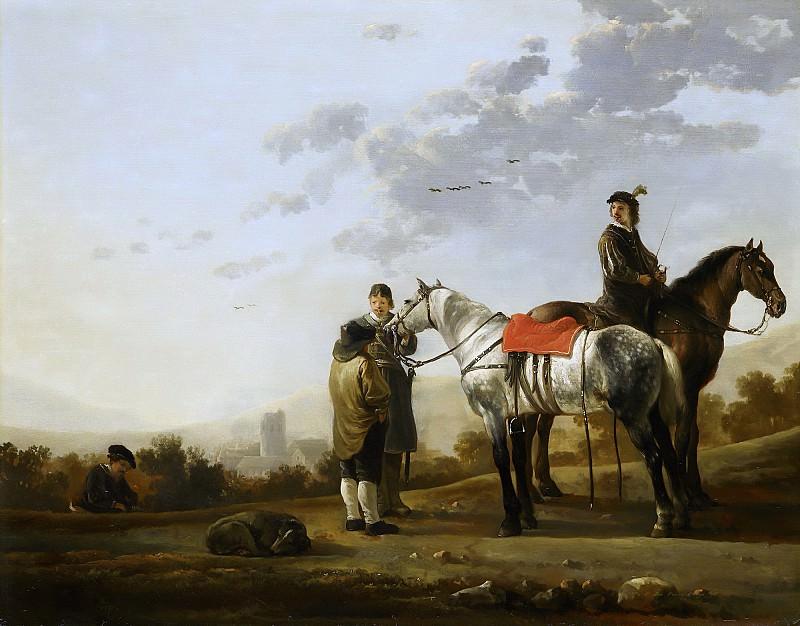 Два всадника, говорящие с крестьянином. Aelbert Cuyp