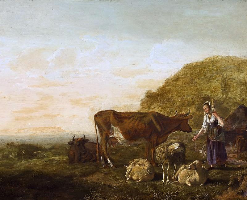 Крестьянка и домашняя скотина. Альберт Кёйп
