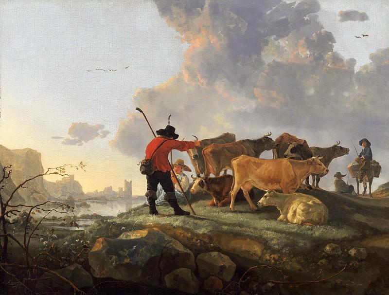 Пастух, ведущий стадо. Альберт Кёйп