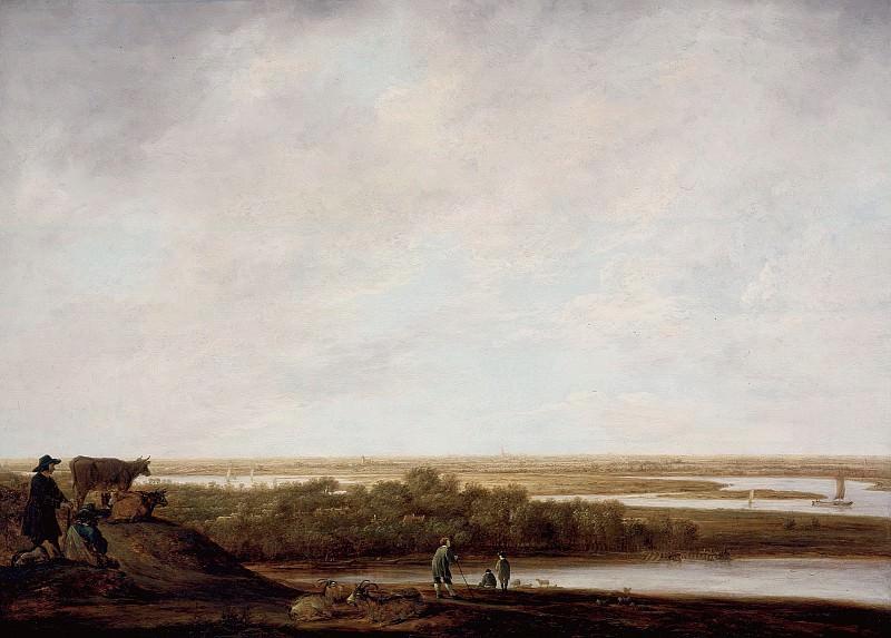 Панорамный пейзаж с пастухами. Альберт Кёйп