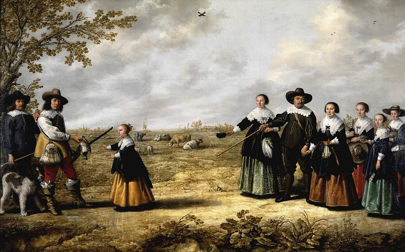 Семейный портрет в пейзаже (совместно с Якобом Кейпом). Aelbert Cuyp