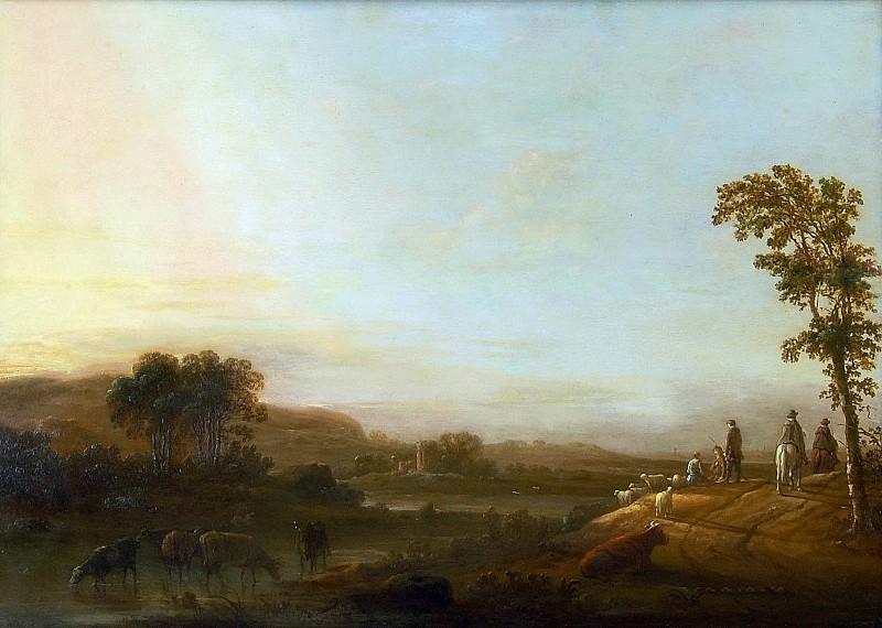 Пейзаж с водопоем. Альберт Кёйп