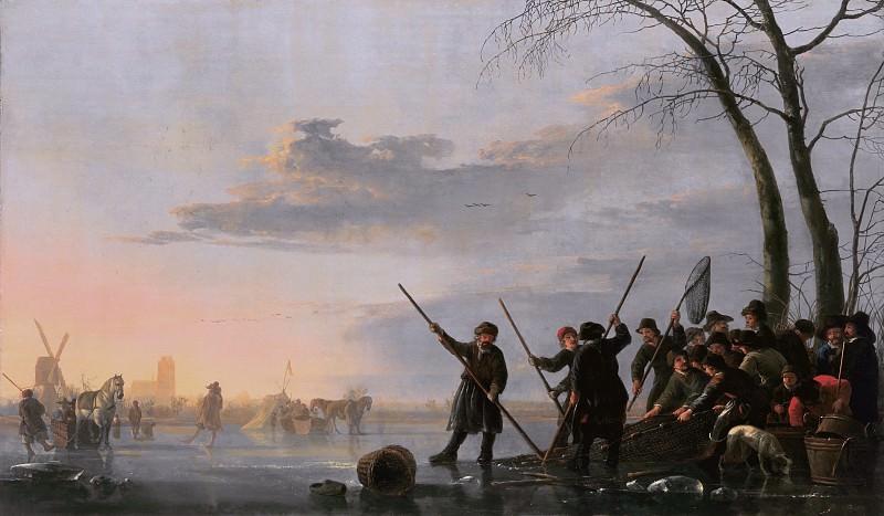Рыбаки на льду Мааса. Aelbert Cuyp