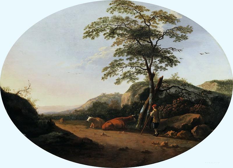 Пейзаж с пастухом и коровами. Aelbert Cuyp