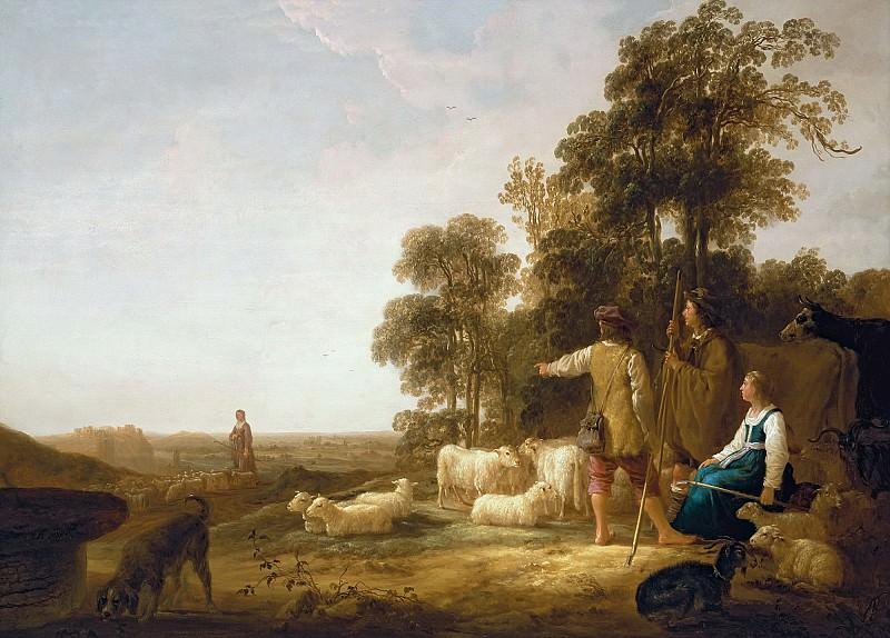 Пейзаж с пастухами. Aelbert Cuyp