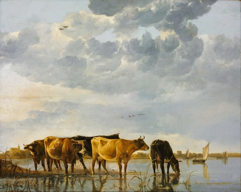 Коровы на реке. Альберт Кёйп