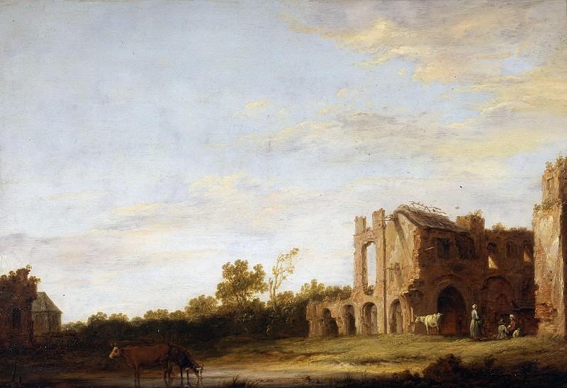 Пейзаж с руинами аббатства Рейнсбург близ Лейдена. Aelbert Cuyp