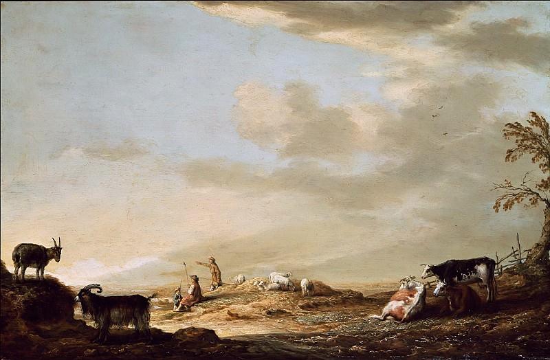 Пейзаж с пастухами и стадом. Альберт Кёйп