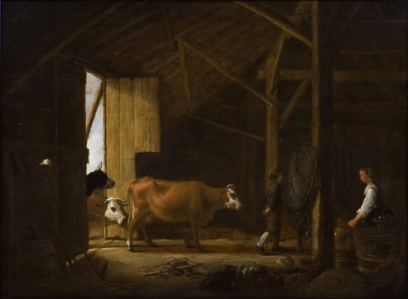 Interior of a Cowshed. Aelbert Cuyp