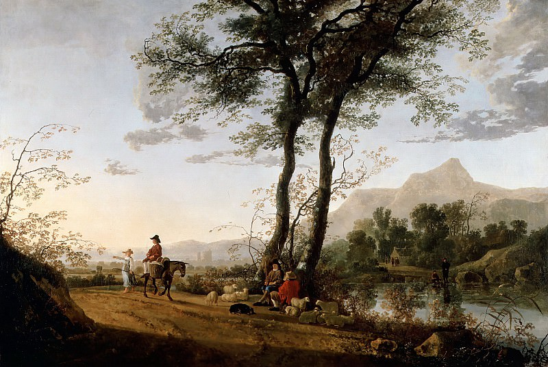 A Road Near A River. Aelbert Cuyp