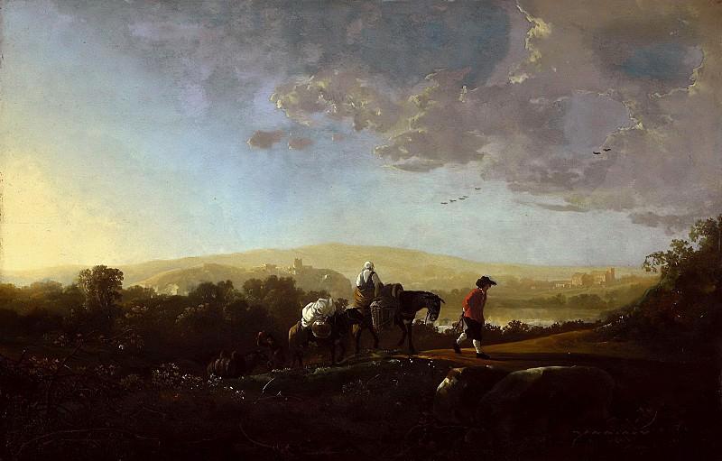 Путники в холмистой местности. Альберт Кёйп