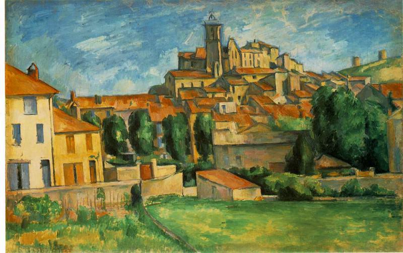 GARDANNE,1885-86, BARNES FOUNDATION. Paul Cezanne