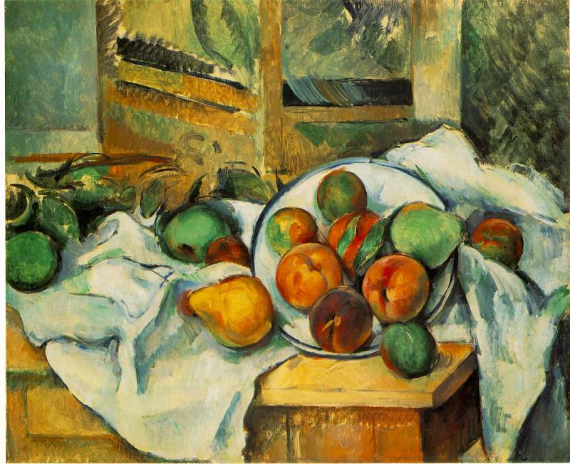 Table, Napkin, and Fruit. Paul Cezanne