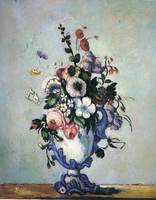 Цветы в вазе в стиле рококо. Поль Сезанн