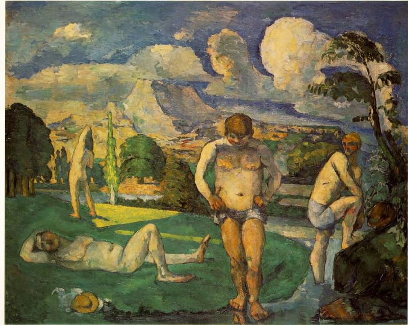 LES BAIGNEURS AU REPOS,1875-76, BARNES FOUNDATION. Paul Cezanne