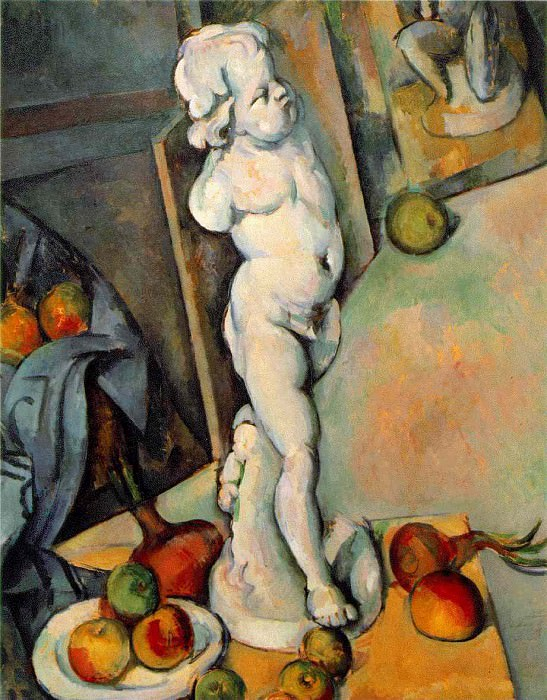 STILL LIFE WITH PLASTER CUPID,1895, COURTAULD INSTIT. Paul Cezanne