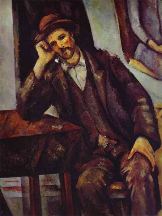 Man Smoking a Pipe. Paul Cezanne