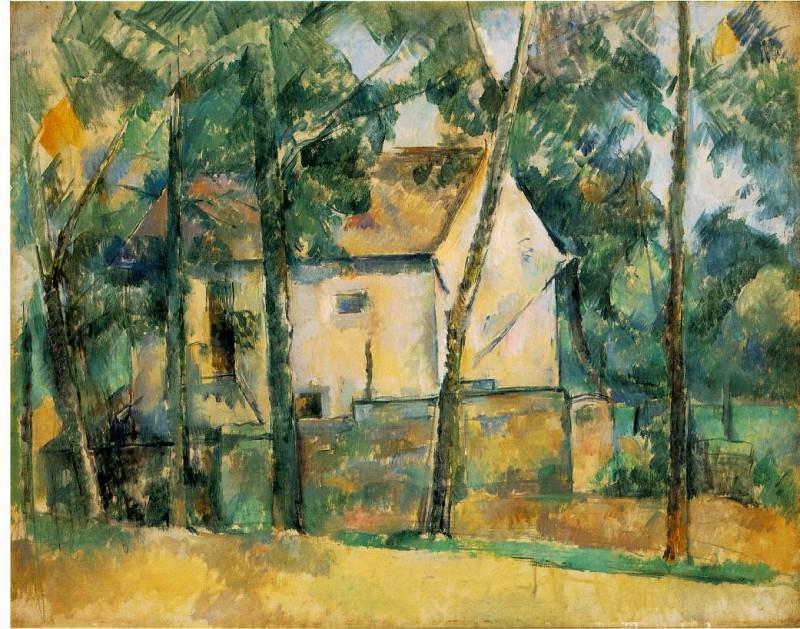 MAISON ET ARBRES,1890-94, BARNES FOUNDATION. Paul Cezanne
