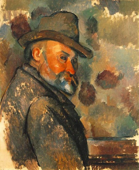 Self-Portrait with Soft Hat. Paul Cezanne