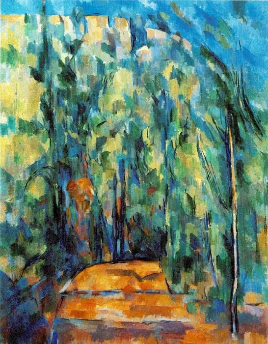 BEND IN FOREST ROAD 1902-6 COLLECTION OF DR. RUT. Paul Cezanne