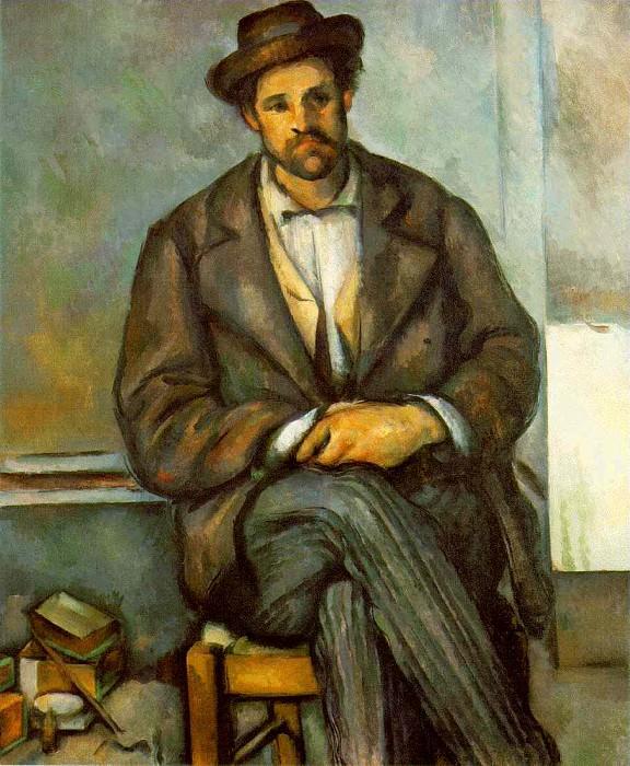 SEATED PEASANT,1895-90, PHILADELPHIA MUSEUM OF ART. Paul Cezanne