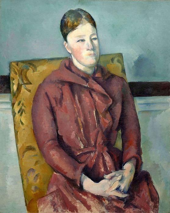 Madame Cezanne in a Yellow Chair. Paul Cezanne