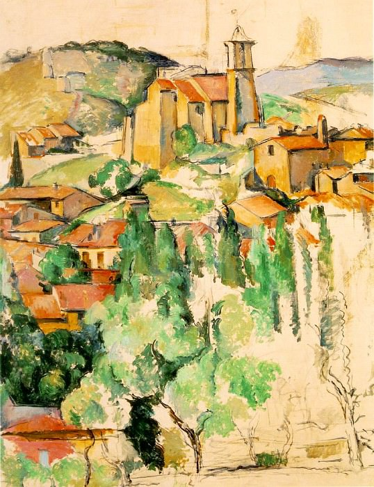 GARDANNE,1885-86, THE BROOKLYN MUSEUM,NY. VENTURI 43. Paul Cezanne