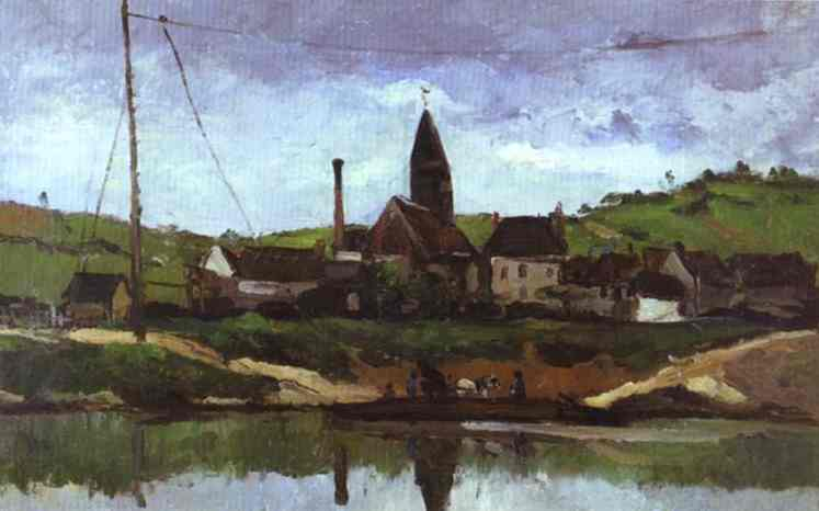 View of Bonnieres. Paul Cezanne