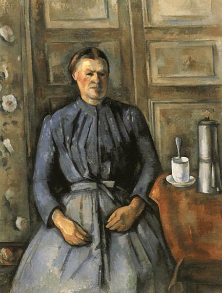 KVINNA MED KAFFEBRYGGARE,C.1895, MUSEE DORSAY, PARI. Paul Cezanne