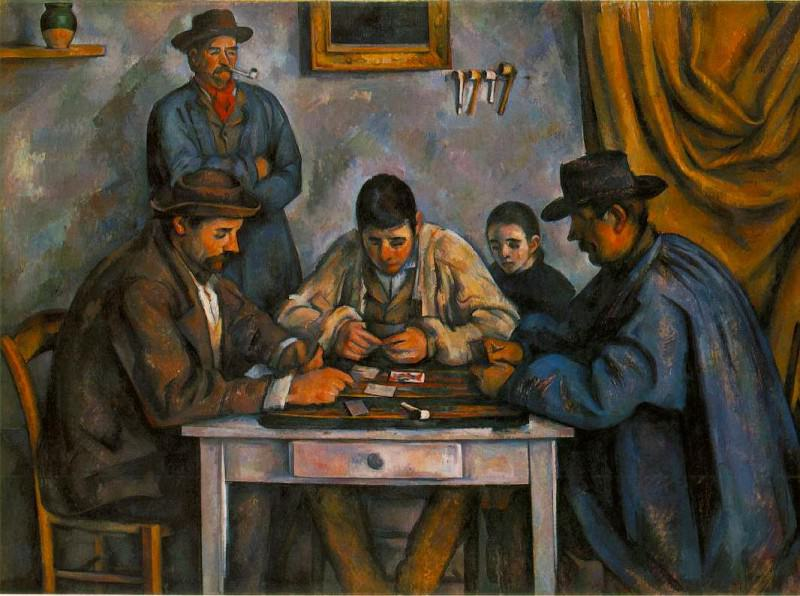THE CARD PLAYERS,1890-92, BARNES FOUNDATION. Paul Cezanne