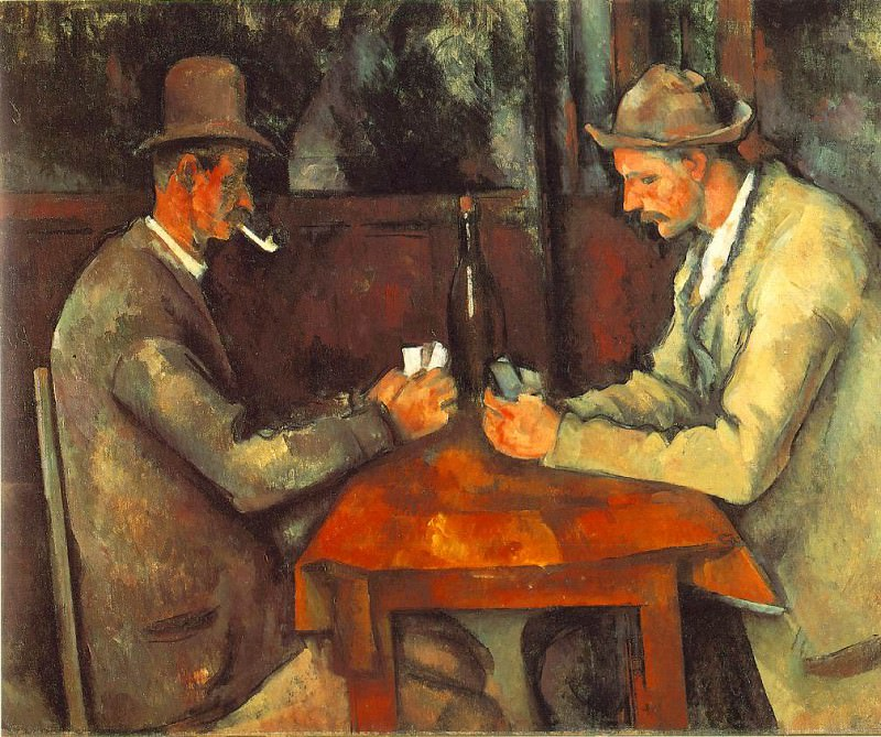 The Card Players. Paul Cezanne