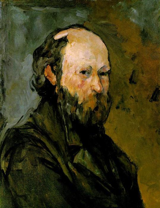 SELF PORTRAIT,1878-80, THE PHILLIPS COLLECTION WASHI. Paul Cezanne