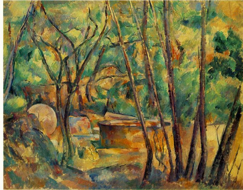 MEULE ET CITERNE SOUS BOIS,1892, BARNES FOUNDATION. Paul Cezanne